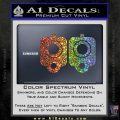 9mm Muzzle Pistol Gun Barrel Decal Sticker Sparkle Glitter Vinyl 120x120
