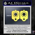 9mm Muzzle Pistol Gun Barrel Decal Sticker Yelllow Vinyl 120x120
