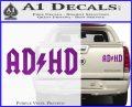ADHD ACDC Parody Decal Sticker Purple Vinyl 120x97