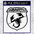 Abarath Logo Decal Sticker Black Logo Emblem 120x120