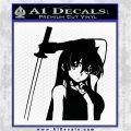 Akame Ga Kill Akame Anime Kyoko DLB Decal Sticker Black Logo Emblem 120x120