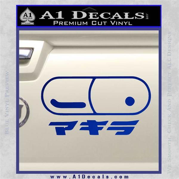 Akira Pill Anime Decal Sticker Blue Vinyl