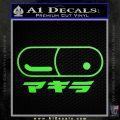 Akira Pill Anime Decal Sticker Lime Green Vinyl 120x120