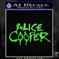 Alice Cooper Decal Sticker TX1 Lime Green Vinyl 120x120