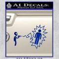 Alien Shooting Human DG Decal Sticker Blue Vinyl 120x120