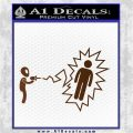 Alien Shooting Human DG Decal Sticker Brown Vinyl 120x120