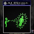 Alien Shooting Human DG Decal Sticker Lime Green Vinyl 120x120