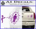 Alien Shooting Human DG Decal Sticker Purple Vinyl 120x97