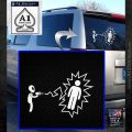 Alien Shooting Human DG Decal Sticker White Emblem 120x120