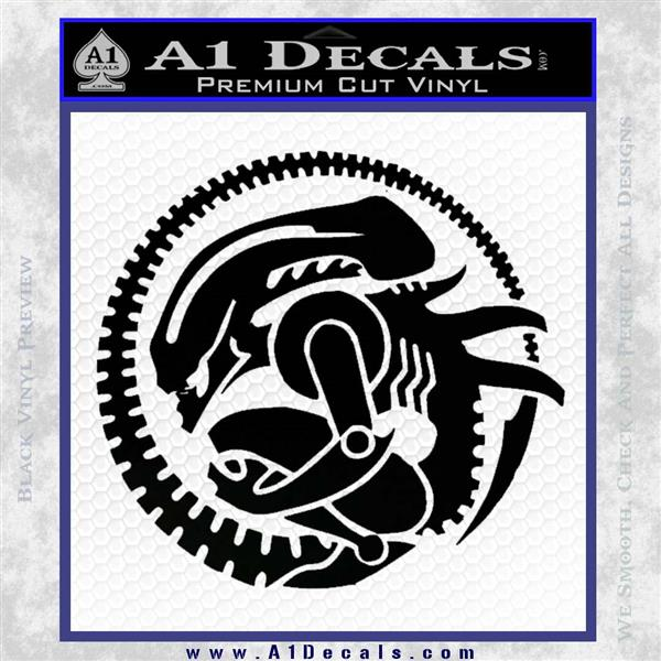 Aliens Movie CR Decal Sticker Black Logo Emblem