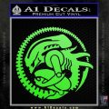 Aliens Movie CR Decal Sticker Lime Green Vinyl 120x120