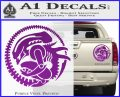 Aliens Movie CR Decal Sticker Purple Vinyl 120x97
