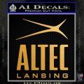 Altec Lansing Logo Decal Sticker Metallic Gold Vinyl 120x120