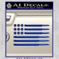 American Flag Bullets Decal Sticker Blue Vinyl 120x120