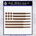 American Flag Bullets Decal Sticker Brown Vinyl 120x120