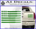 American Flag Bullets Decal Sticker Green Vinyl 120x97
