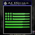 American Flag Bullets Decal Sticker Lime Green Vinyl 120x120