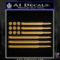 American Flag Bullets Decal Sticker Metallic Gold Vinyl Vinyl 120x120