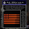 American Flag Bullets Decal Sticker Orange Vinyl Emblem 120x120