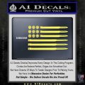 American Flag Bullets Decal Sticker Yelllow Vinyl 120x120