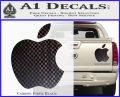 Apple Logo Original Decal Sticker Carbon Fiber Black 120x97