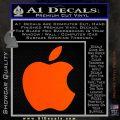 Apple Logo Original Decal Sticker Orange Vinyl Emblem 120x120