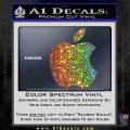 Apple Logo Original Decal Sticker Sparkle Glitter Vinyl 120x120