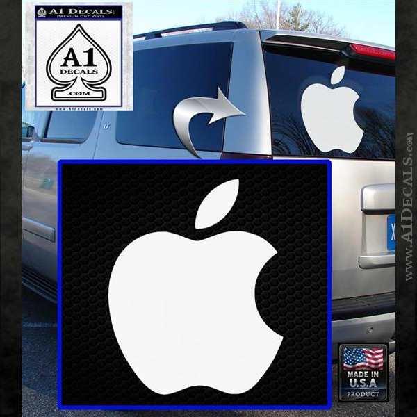 Apple Logo Original Decal Sticker White Emblem