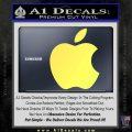 Apple Logo Original Decal Sticker Yelllow Vinyl 120x120