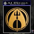 Aquaman CR DLB Decal Sticker Metallic Gold Vinyl 120x120