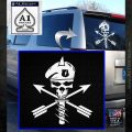 Army Green Beret Skull Special Forces Decal Sticker White Emblem 120x120
