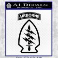 Army Special Forces Decal Sticker Black Logo Emblem 120x120