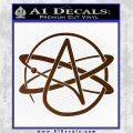 Athiest Atom Symbol Decal Sticker Brown Vinyl 120x120