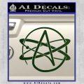 Athiest Atom Symbol Decal Sticker Dark Green Vinyl 120x120