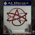 Athiest Atom Symbol Decal Sticker Dark Red Vinyl 120x120