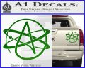 Athiest Atom Symbol Decal Sticker Green Vinyl 120x97