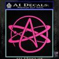 Athiest Atom Symbol Decal Sticker Hot Pink Vinyl 120x120