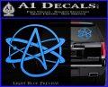 Athiest Atom Symbol Decal Sticker Light Blue Vinyl 120x97