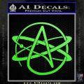 Athiest Atom Symbol Decal Sticker Lime Green Vinyl 120x120