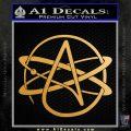 Athiest Atom Symbol Decal Sticker Metallic Gold Vinyl Vinyl 120x120