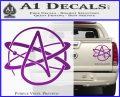 Athiest Atom Symbol Decal Sticker Purple Vinyl 120x97