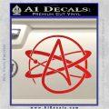 Athiest Atom Symbol Decal Sticker Red Vinyl 120x120