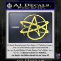 Athiest Atom Symbol Decal Sticker Yelllow Vinyl 120x120