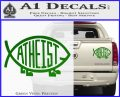 Athiest Jesus Fish Decal Sticker d6 Green Vinyl 120x97