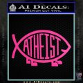 Athiest Jesus Fish Decal Sticker d6 Hot Pink Vinyl 120x120