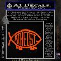 Athiest Jesus Fish Decal Sticker d6 Orange Vinyl Emblem 120x120