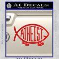 Athiest Jesus Fish Decal Sticker d6 Red Vinyl 120x120
