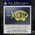 Athiest Jesus Fish Decal Sticker d6 Yelllow Vinyl 120x120