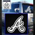 Atlanta Braves Decal Sticker A White Emblem 120x120