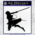 Attack On Titan Annie Leonhart Decal Sticker Black Logo Emblem 120x120
